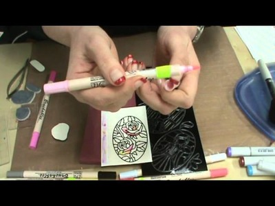#95 Elizabeth Crafts Peel Stickers, Glitter & Zig Brushables Markers by Scrapbooking Made Simple