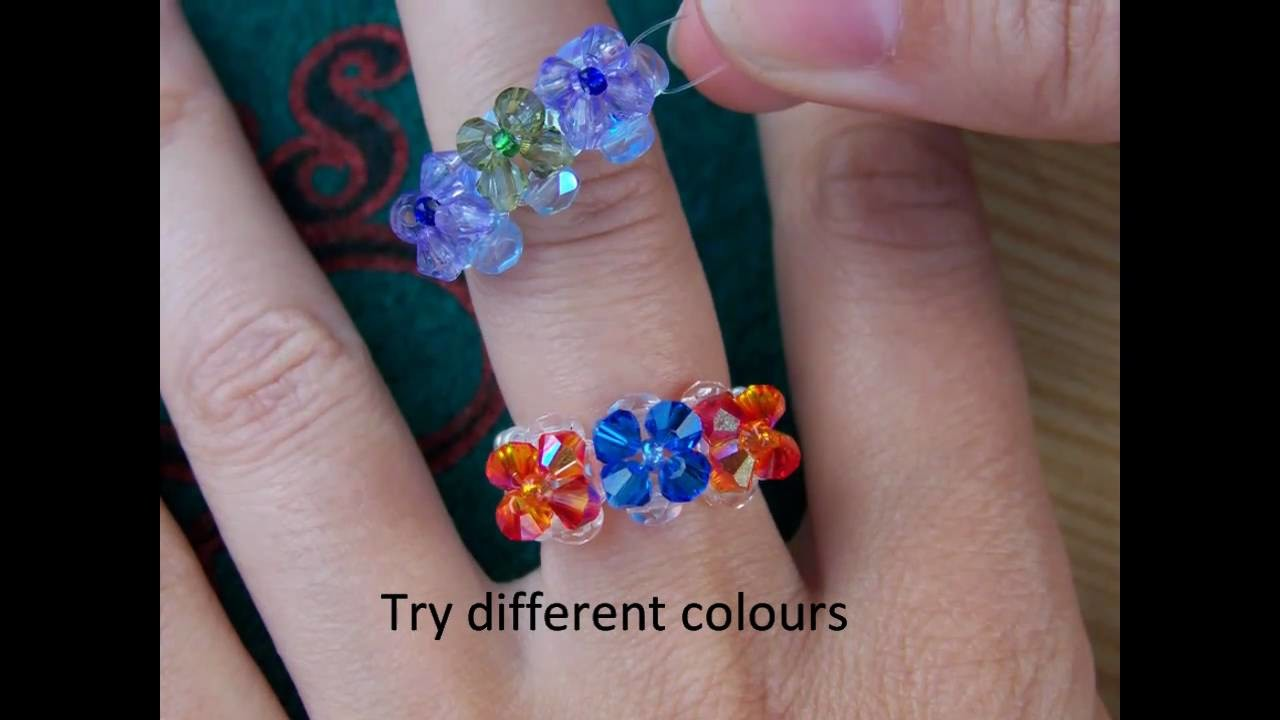 Beaded ring step by step tutorial