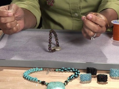 Beading Projects : How to Tie a Beaded Bracelet