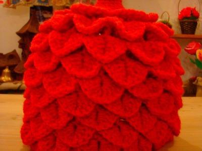 ŁUSKA KROKODYLA ,How To Crochet Crocodile Stitch BY EWA MARIA PIECHOTA