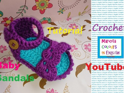 "Crochet ""Trifina"" Baby Sandals (Part 1) Free Pattern by Maricita Colours in English"