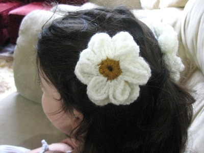Daisy Flower - Left Handed Crochet Tutorial