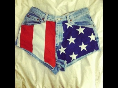 DIY High-Waisted American Flag Shorts #DIYGawd
