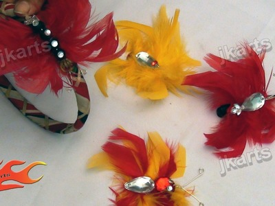 DIY How to: make Butterfly with Feathers - JK Arts 117