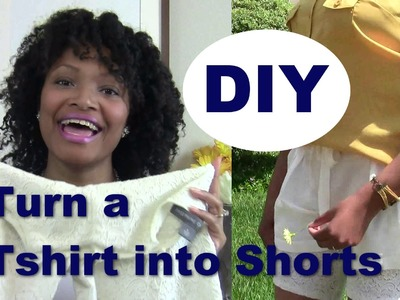 DIY How to make shorts from a T-shirt