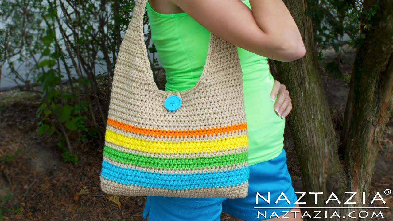 DIY Learn How to Make & Crochet Easy Beginner Tote Bag Handbag Purse Summer Pattern