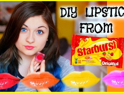 DIY LIPSTICK OUT OF STARBURSTS?! | xxmakeupiscoolxx