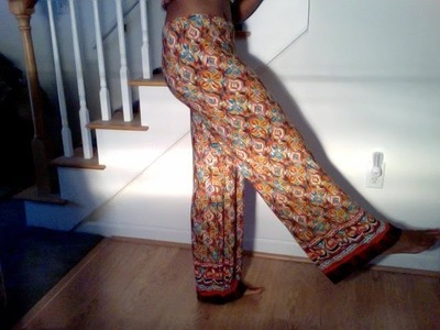 DIY Old Maxi Dress Into New Palazzo Pants