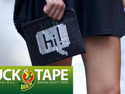 Duck Tape Crafts: How to Make a Zippered Pouch with LaurDIY