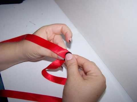 Easy Folded Ribbon Rose