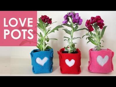 FELT FLOWERPOTS: Mother's Day DIY