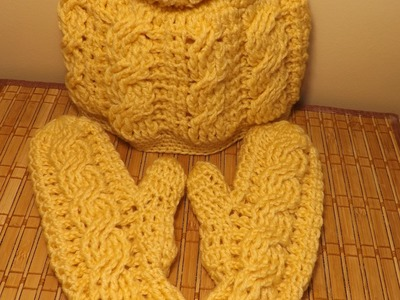 How To Crochet Cable Mittens