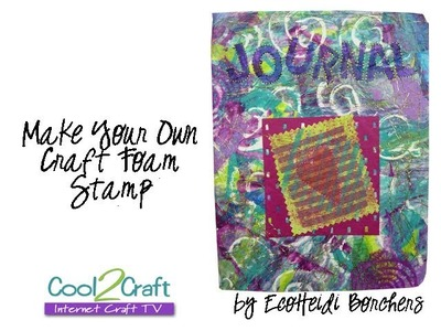How to Make a Craft Foam Stamp featuring Aleene's Turbo Tacky Glue by EcoHeidi Borchers
