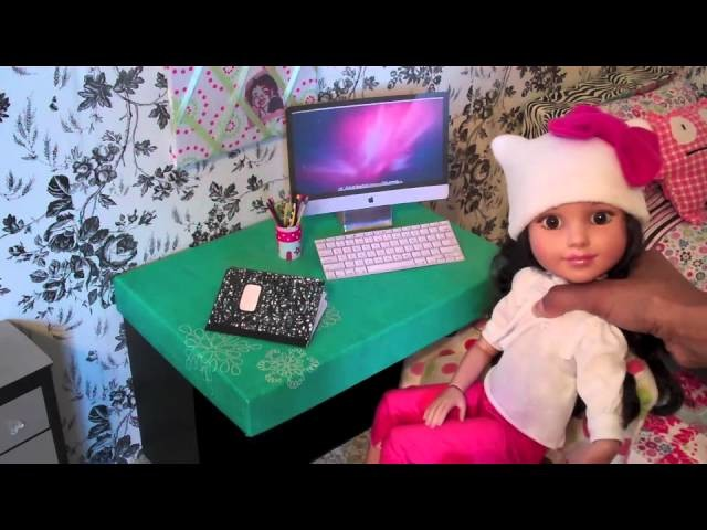 How to Make a Desk for an 18 inch Doll: Easy