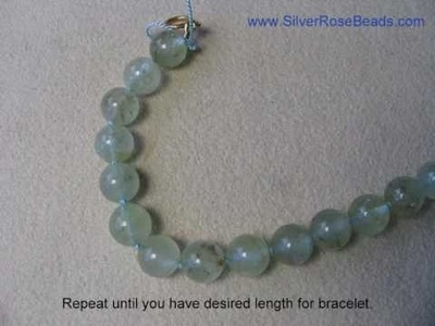 How to string and knot an Aquamarine bracelet