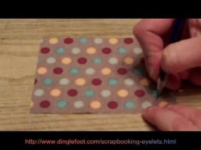 How to use scrapbooking eyelets