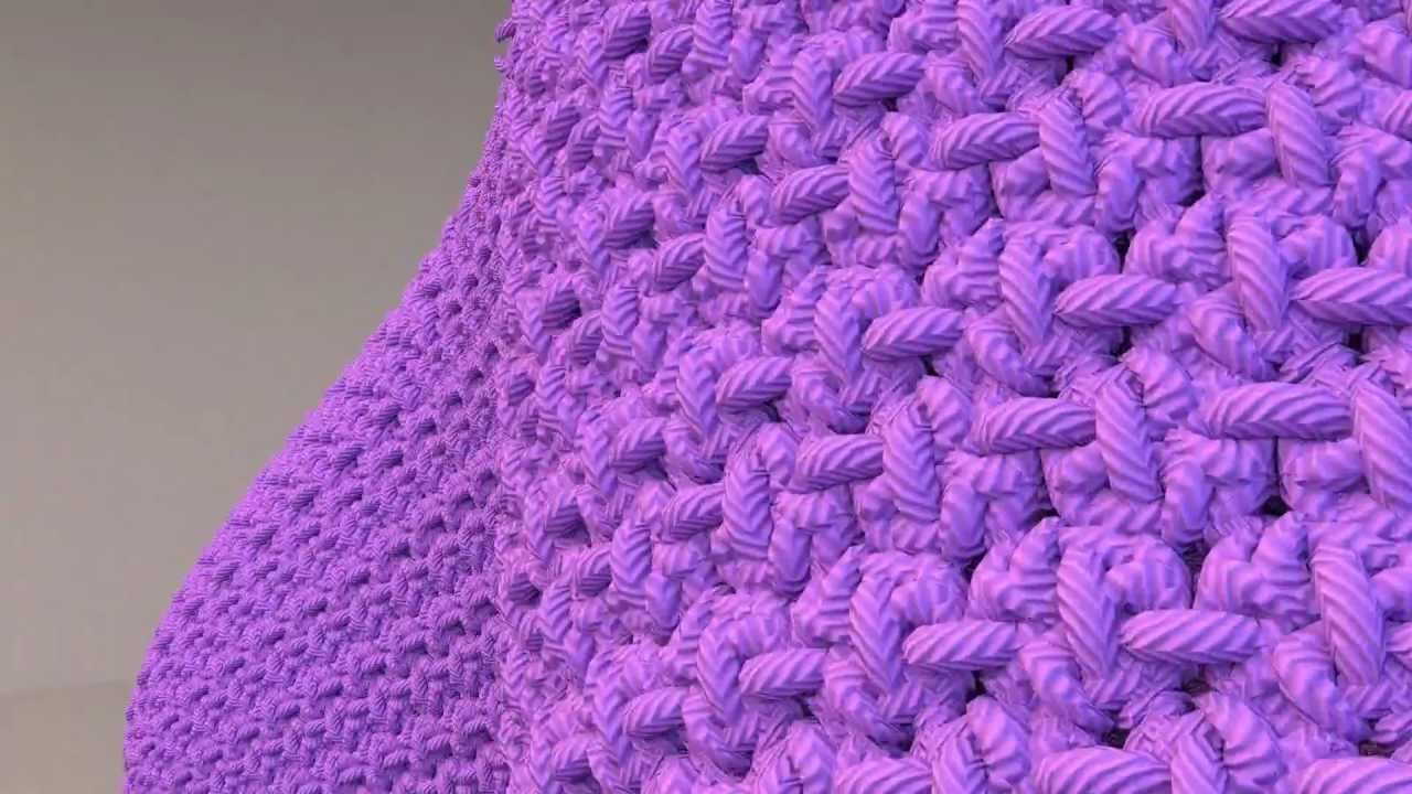 Knitted Clothing Simulation at ultra high detail