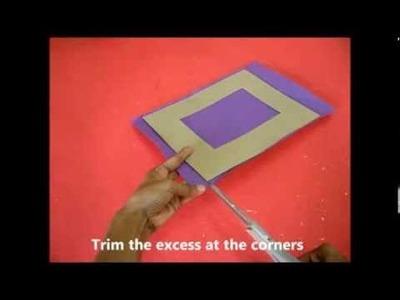 Lanterns & Photoframes: DIY Cardboard Photoframe