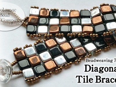 Make a Diagonal Tile Bracelet