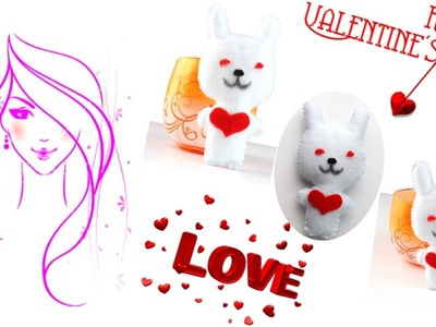 MORENA DIY: HOW TO MAKE VALENTINE'S DAY GIFT IDEAS!!! BUNNY LOVE!!!!