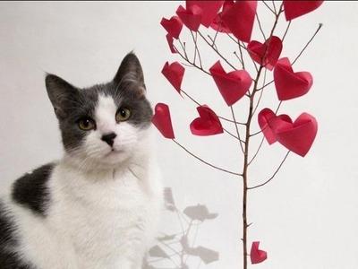 Origami Tree of hearts Arbol de corazones