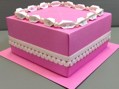 Origami Wedding Birthday Cake Display Gift Box