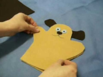 Puppy Puppet by OneMinuteCrafts.com
