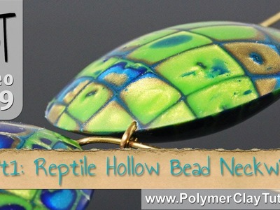 Reptile Pattern Hollow Lentil Bead Polymer Tutorial (Intro)