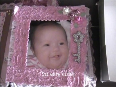 Scrapbooking My first Baby Girl Mini Album in a Box