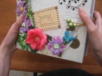 Spring. Easter. Mother's Day 8x8 Scrapbook Mini Album