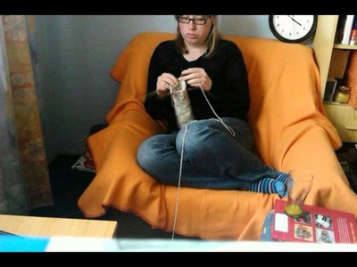 Time lapse knitting a sock: 2.5 hours into 24 seconds