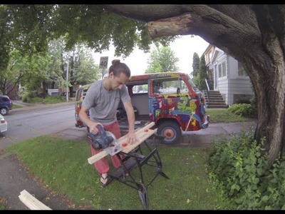 Timelapse: DIY Building an L-shaped Bench Seat for the Hippie Van (part 1)