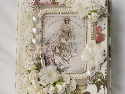 Wedding Handmade Chipboard Scrapbook Photo album.