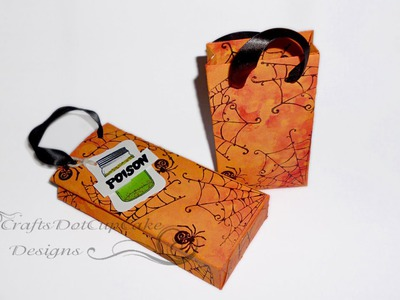 #2 Halloween Crafts Series 2012 - Spider Web Treat Carry Bag - Tutorial