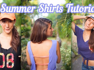 3 Easy DIY Summer Shirts Tutorials
