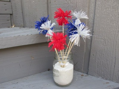4th of July Centerpiece Craft Tutorial   Easy Craft for Kids!
