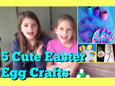 5 Easter Coloring Crafts | DIY Painting Easter Eggs Crafts Ideas | Kids Cheap & Easy DIY