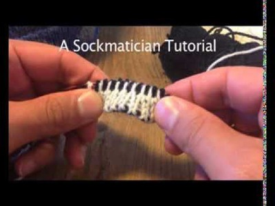 A Sockmatician Tutorial - Two-Colour Alternating Invisible Cast On for Double-Knitting in the Round