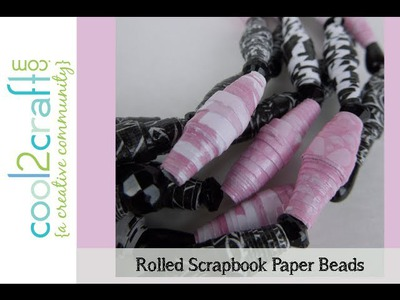 Aleene's Scrapbook Paper Beads by Tiffany Windsor DIY Craft