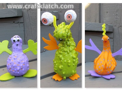 Alien Gourds Halloween Craft Tutorial
