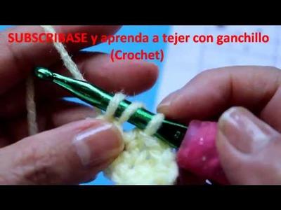Aprenda a tejer Crochet (ganchillo) - Punto Media vareta