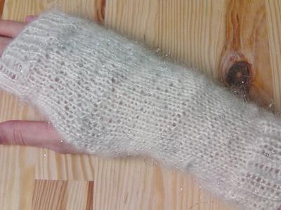 Arm cuffs sleeves knitting tutorial