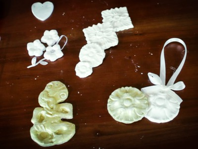 Arts and Crafts Tutorial: How to Make Air-Dry Clay Christmas Tree Decorations