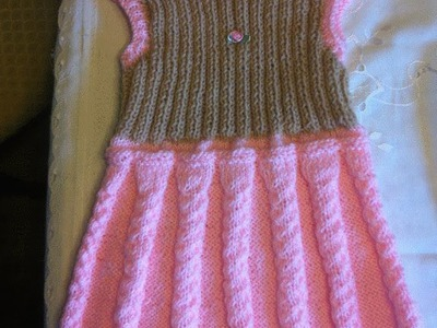 Babykleid*Trägerrock*Mädchenkleid*Strickkleid*TEIL 1*Dress for girls knitting*Tutorial Handarbeit