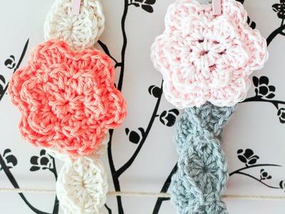 Bandeau enfant + fleur au crochet facile débutant.