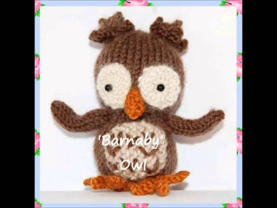 Barnaby Night Owl Bird Animal Baby DK Yarn Amigurumi Soft Toy Knitting Pattern