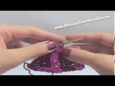 Belajar Merajut Knitting - Yarn Over