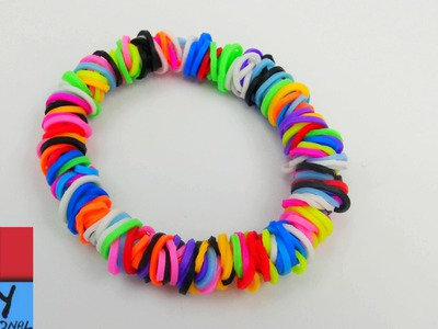 Braccialetto con elastici e telaio - circle loom knitting - Come realizzare braccialetto circle loom