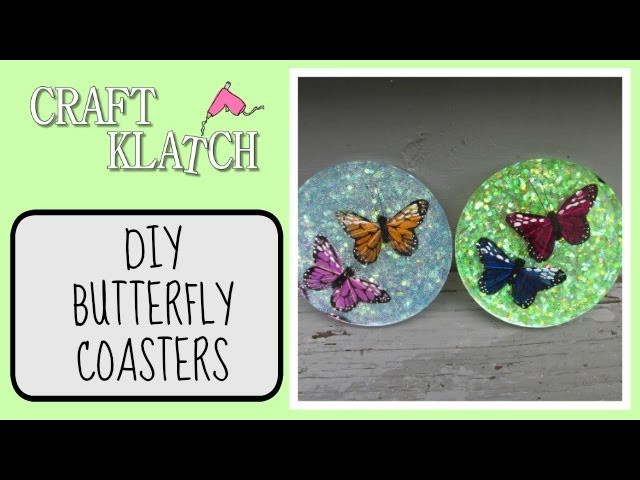 Butterfly Coaster DIY   Another Coaster Friday Craft Klatch