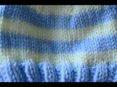 Changing Colors Knitting in the Round Right Handed, For Free Striped Baby Hat Pattern